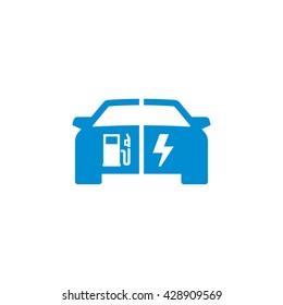 Hybrid Car Vector Icon