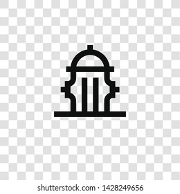 hydrant icon from miscellaneous collection for mobile concept and web apps icon. Transparent outline, thin line hydrant icon for website design and mobile, app development