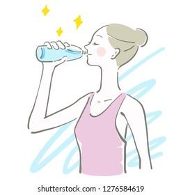 hydration water lady