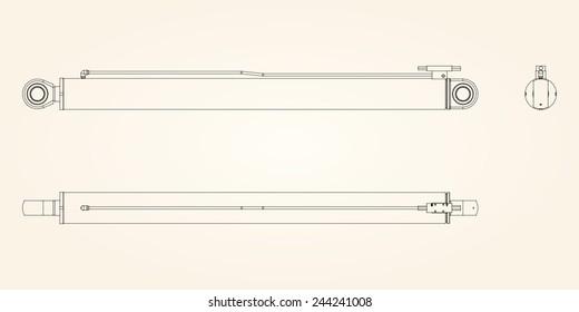 Hydraulic Actuator Images, Stock Photos & Vectors | Shutterstock