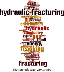 Hydraulic Fracturing word cloud concept. Vector illustration