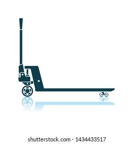 Hydraulic Trolley Jack Icon. Shadow Reflection Design. Vector Illustration.