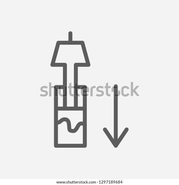 Hydraulics Icon Line Symbol Isolated Vector Stock Vector
