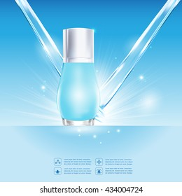 Hydro Booster Water Serum and Collagen Vitamin Background Skin Care.