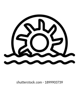 Hydro power energy icon. Outline hydro power energy vector icon for web design isolated on white background