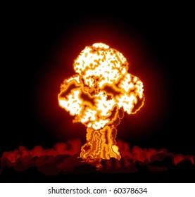Hydrogen bomb exploded