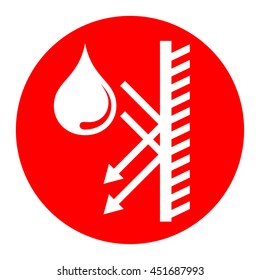 hydrophobic icon, water repellent icon, anti corrosion icon, waterproof icon, water protection icon