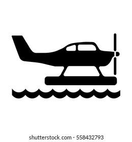 hydroplane vector icon, Seaplane