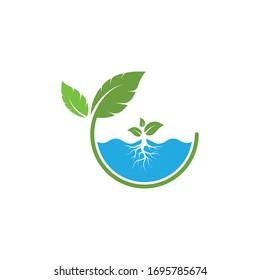 hydroponics logo vector illustration design template