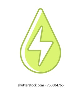 Hydropower green vector icon