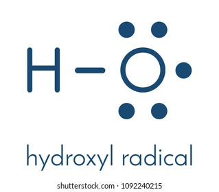 Hydroxyl radical. Used by macrophages (immune cells) to destroy pathogens. Skeletal formula.