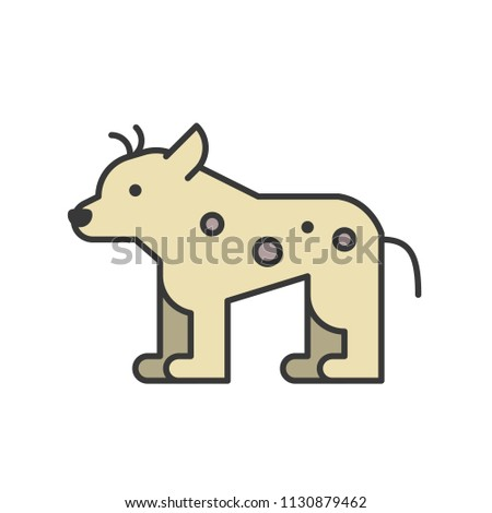 56d84b6d806ac Hyena African Animal Zoo Icon Set Stock Vector (Royalty Free ...