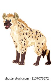 Hyena cartoon illustration with smiling face