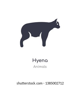 hyena icon. isolated hyena icon vector illustration from animals collection. editable sing symbol can be use for web site and mobile app
