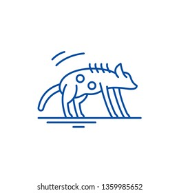 Hyena line icon concept. Hyena flat  vector symbol, sign, outline illustration.