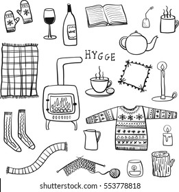 Hygge illustration drawing doodle objects