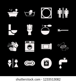 hygiene icon. hygiene vector icons set hand washing, toilet, toothbrush toothpaste and cologne spray