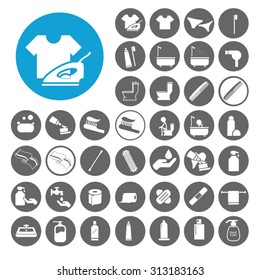 Hygiene icons set. Illustration EPS10
