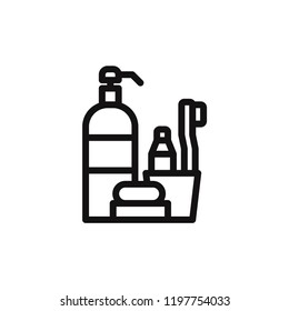 Hygiene items vector icon. Soap,clean symbol. Flat vector sign isolated on white background. Simple vector illustration for graphic and web design.