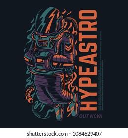 Hype Astro Illustration