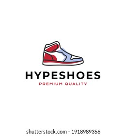 hype shoes logo vector icon illustration line outline style good for your business