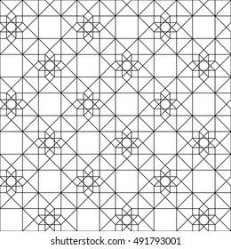 Hypercube line pattern, sacred geometry