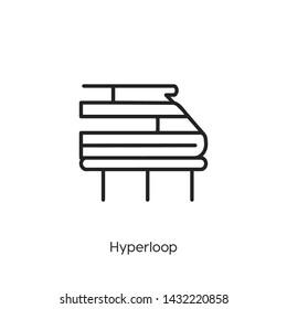hyperloop icon vector symbol sign