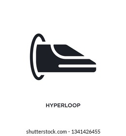 hyperloop isolated icon. simple element illustration from artificial intellegence concept icons. hyperloop editable logo sign symbol design on white background. can be use for web and mobile