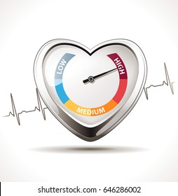 Hypertension concept - Healthy heart