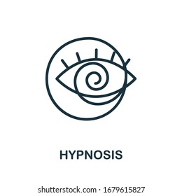 Hypnosis icon from alternative medicine collection. Simple line Hypnosis icon for templates, web design and infographics