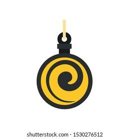 Hypnosis medallion icon. Flat illustration of hypnosis medallion vector icon for web design