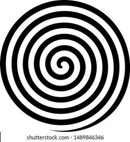 Hypnosis Spiral, concept for hypnosis, unconscious, chaos, extrasensory perception, psychic, stress, strain, optical illusion, headache, migraine. Black and white.