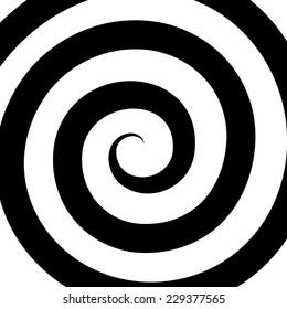Hypnosis Spiral Pattern. Optical illusion. Vector illustration