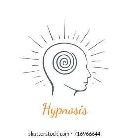 Hypnosis. Vector concept sketch.