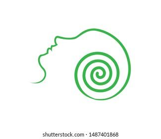 Hypnotherapy Logo Design Concept Vector