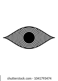 Hypnotic Eye Illusion Simple Art