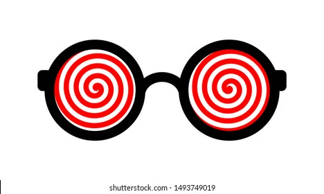 Hypnotic glasses isolated on a white background