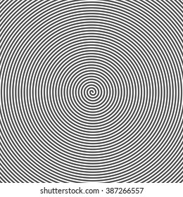 Hypnotic Spiral Abstract Background. Retro Style. Black And White. Vector.