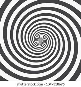 Hypnotic spiral background. Vector illustration