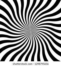 Hypnotic swirl spiral background. Vector illustration. Hypnos Circles Concentric.