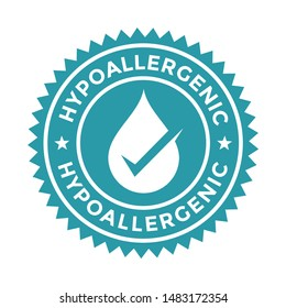 Hypoallergenic Badge vector logo template. Suitable for label product