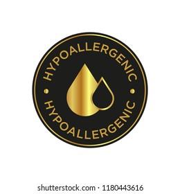 Hypoallergenic black and golden icon