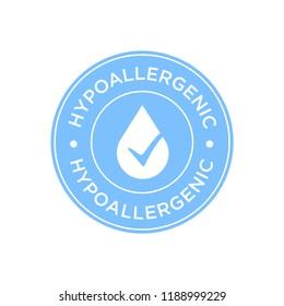 Hypoallergenic blue icon