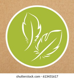 Hypoallergenic feathers vector isolated icon