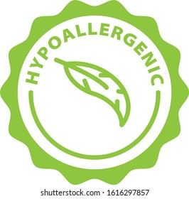 hypoallergenic green outline icon badge