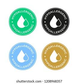 Hypoallergenic icon set.