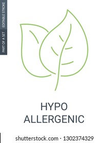 Hypoallergenic simple icon. Plants or leafs icon.