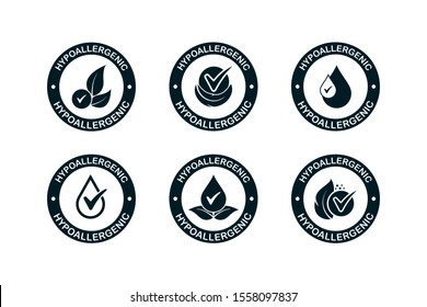 Hypoallergenic tested icon design. vector illustration