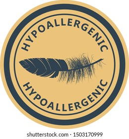 Hypoallergenic tested product logo - label for hypoallergenic package, dermatology test logo for sensitive skin