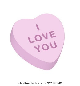 """""""I Love You"""" Candy Heart"""